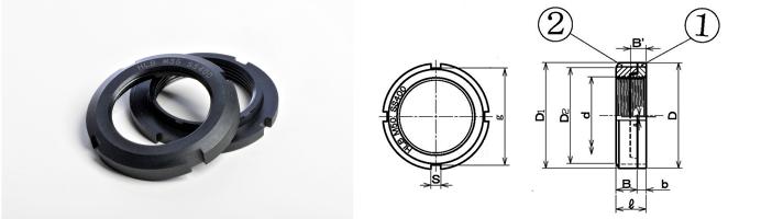HLB ハードロックベアリングナット 寸法図